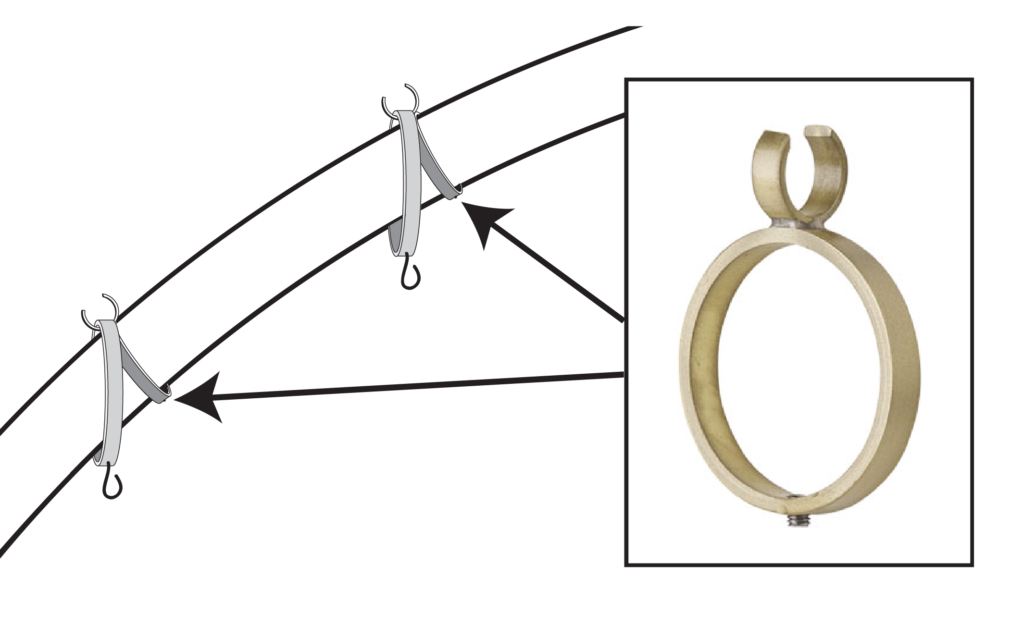 Curved Set Rings