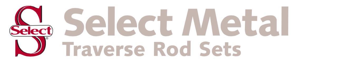 SELECT METAL BRASS TRAVERSE ROD SETS, Select Metal Traverse Rod Sets