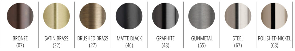 Select Metal Finishes