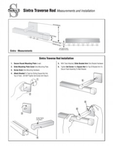 Sintra Traverse Rod Instructions - Pin Setting 9-20105